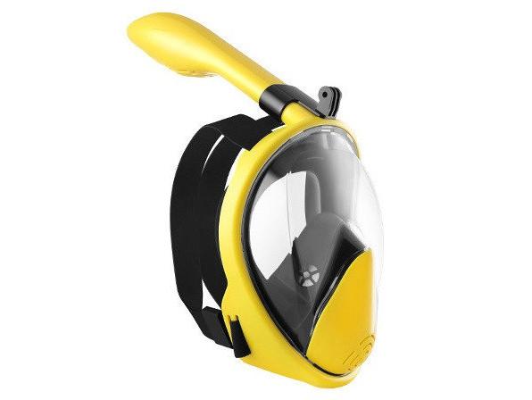 Полнолицевая маска для плавания, для снорклинга Aolais L/XL желтая