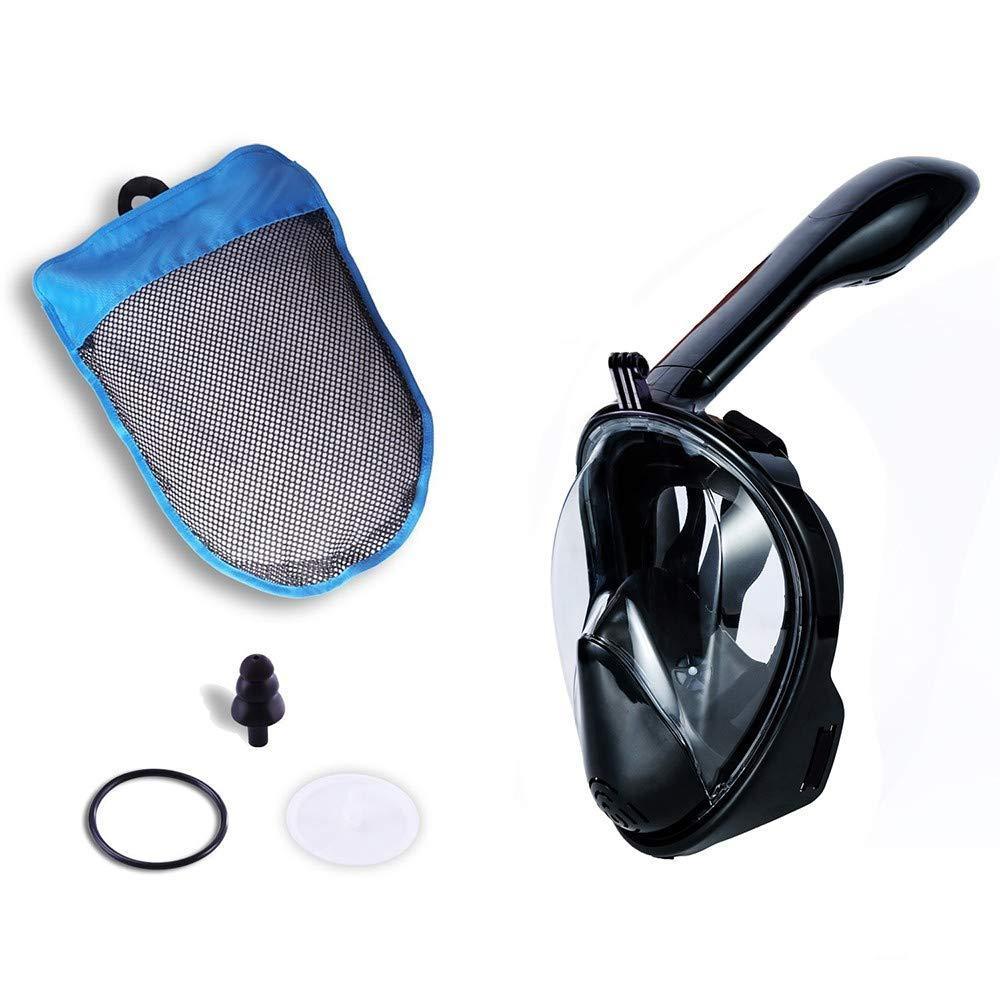 Полнолицевая маска для плавания, для снорклинга Aolais L/XL черная