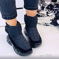 Зимние черные кроссовки 36 размер, фото 1