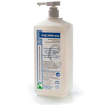 АХД-2000 гель, 1л. дезинфицирующие средства для обработки рук и кожи