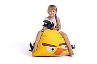 Кресло-мешок для детей птичка желтая размер маленький