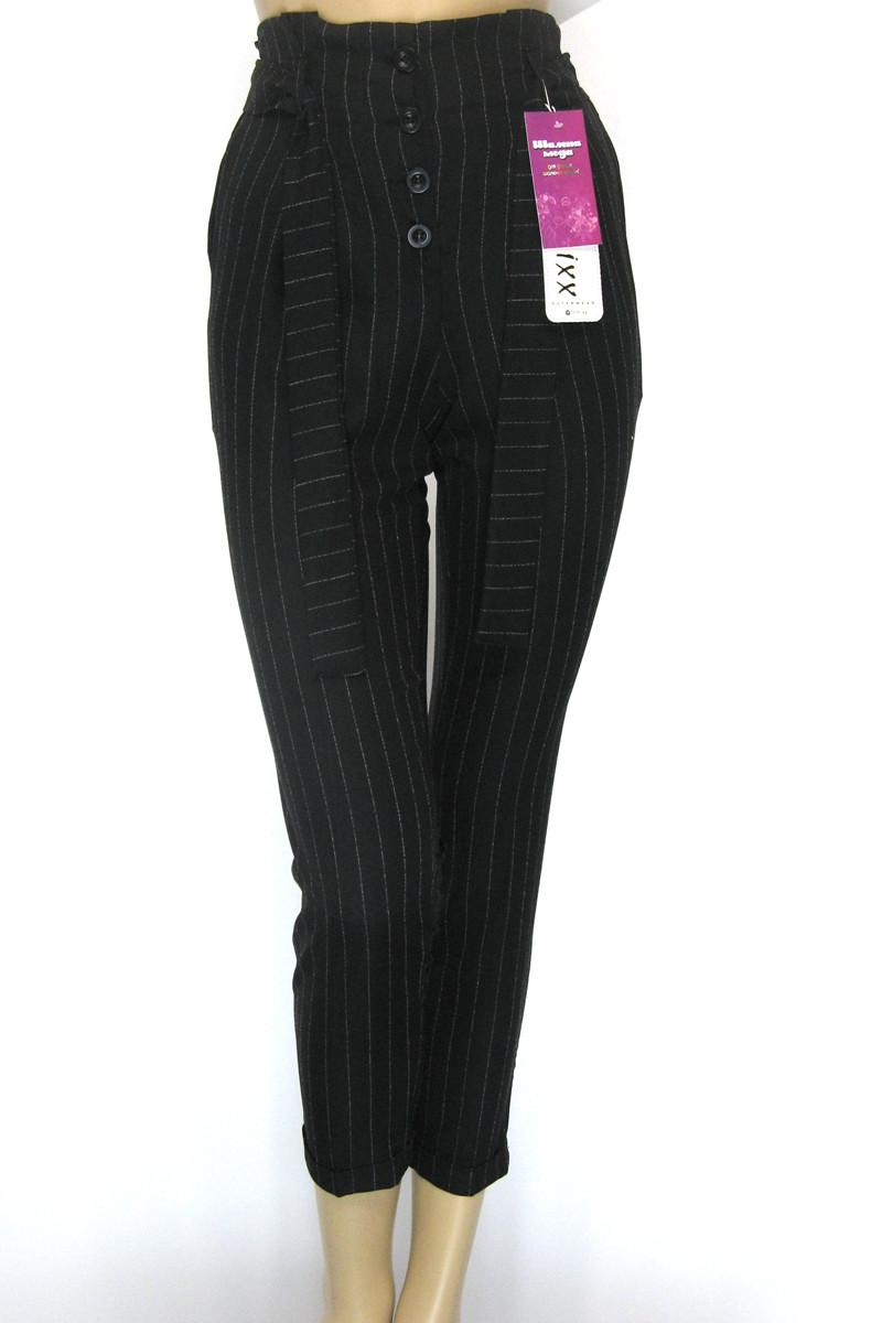 Жіночі чорні штани в полоску
