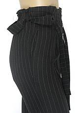 Жіночі чорні штани в полоску, фото 3