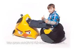 Кресло пуф angry bird птица желтая размер средний