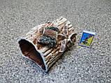 С170 Керамическая декорация для аквариума Полено среднее, фото 2
