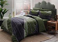 Семейное постельное белье TAC Borneo Green Сатин-Delux (два пододеяльника)