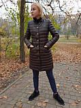 Женская утепленная кожаная куртка, фото 5