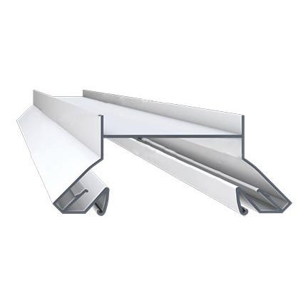 Профиль алюминиевый для натяжных потолков - LumFer N01-WHBK, белый для ниш под светильники. Длина профиля 2 м