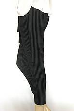 Жіночі чорні брюки в полоску весна-літо, фото 2