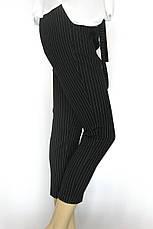 Жіночі чорні брюки в полоску весна-літо, фото 3