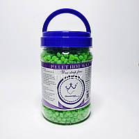Воск для депиляции в гранулах Konsung beauty, в банке 500г, Зеленый чай