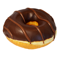 Пончик  DONUT с ореховой начинкой