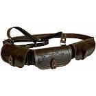Патронташ Медан 2007 кожаный однорядный с тиснением 12к.*18 патронов, фото 2
