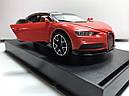 Коллекционный автомобиль Bugatti (красно- черный), фото 5