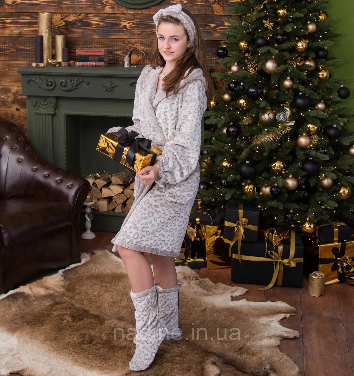 Комплект Cream Eirena Nadine (455-40) рост 140 бежевый халат и сапожки