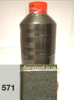Швейная нить Gold Polydea 40 № 571, цв.  хаки, фото 2