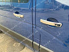 Накладки на ручки дверей Renault Trafic 2014-2019, турецкая сталь, фото 4