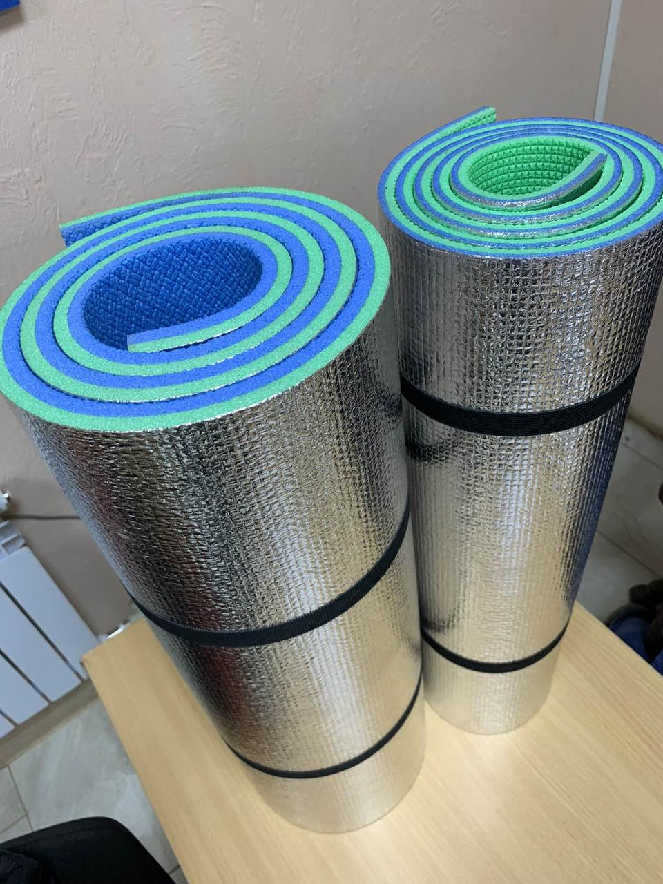 Коврик (каремат) для отдыха и туризма Карпаты фольгированный 10 мм