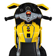 Мотоцикл дитячий Bambi M 4160-6 жовтий Гарантія якості Швидка доставка, фото 3