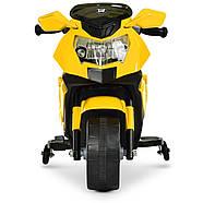 Мотоцикл дитячий Bambi M 4160-6 жовтий Гарантія якості Швидка доставка, фото 2