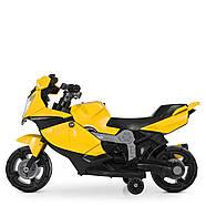 Мотоцикл дитячий Bambi M 4160-6 жовтий Гарантія якості Швидка доставка, фото 4