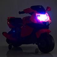 Мотоцикл дитячий Bambi M 4160-6 жовтий Гарантія якості Швидка доставка, фото 6
