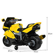 Мотоцикл дитячий Bambi M 4160-6 жовтий Гарантія якості Швидка доставка, фото 5