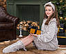 Халат и сапожки для девочки  Eirena Nadine (455-28) рост 128 бежевый, фото 5