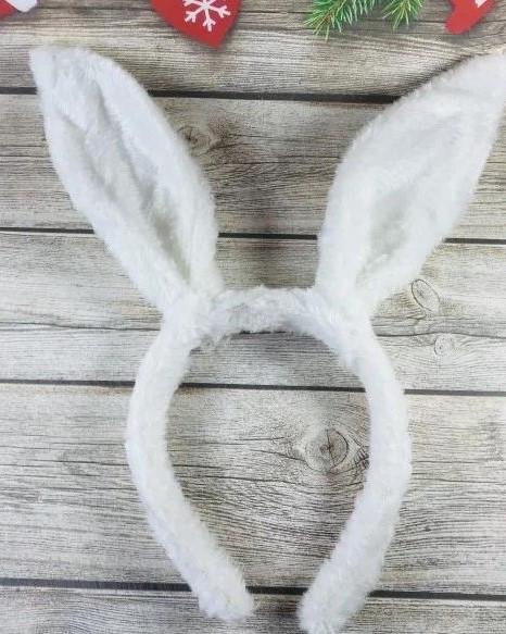 Карнавальный Обруч - Ушки Зайчик Белый