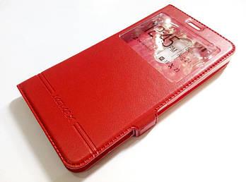 Чехол книжка с окошком momax для Lenovo K6 Note k53a48 красный
