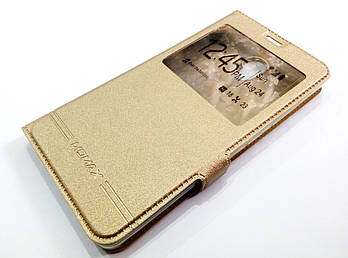 Чехол книжка с окошком momax для Lenovo Vibe P2 p2a42 золотой