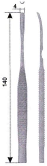 ОР 7-42 Долото с рифленой ручкой желобоватое изогнутое 4 мм
