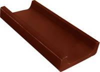 Канал ливневой канализации малый полимеркомпозитный класса В125 красный, коричневый, фото 1
