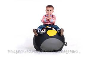 Кресло диван бескаркасный Птица Черная размер большой