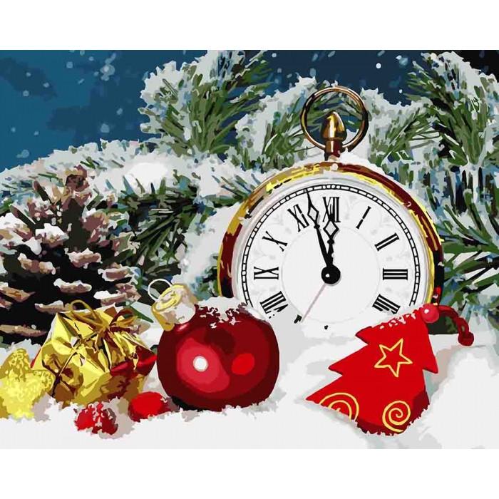 Картина по номерам В ожидании чуда. Новый год КНО5536 ...