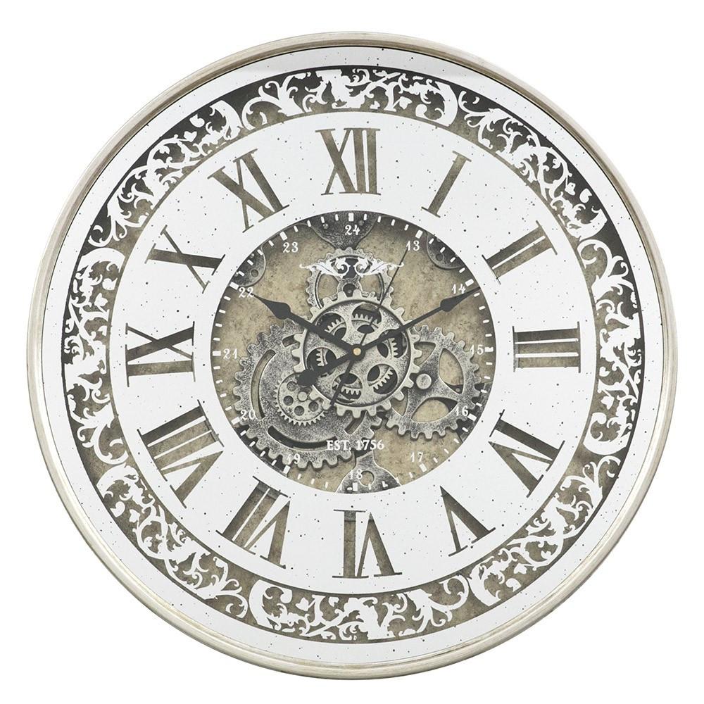 Настенные часы с зеркалом 60x10 см Retro Mirror