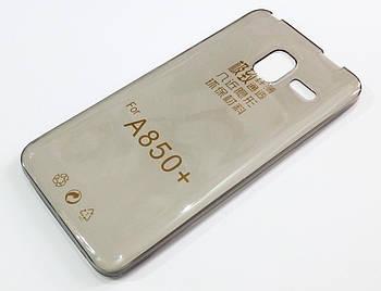 Чехол для Lenovo A850+ силиконовый ультратонкий прозрачный серый