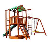 Детский игровой деревянный комплекс-домик с качелями Babyland-6, фото 1