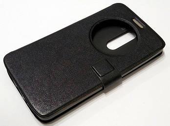 Чехол книжка с окошком momax для LG G3 stylus d690 черный