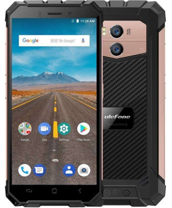 "Смартфон Ulefone Armor X Gold 2/16Gb, 13+5/8Мп, 5.5"" IPS, 5500mAh, 2SIM, IP68, 4G, NFC, 4 ядра"