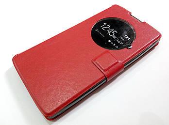 Чехол книжка с окошком momax для LG G4c h522y / LG Magna Y90 h502 красный