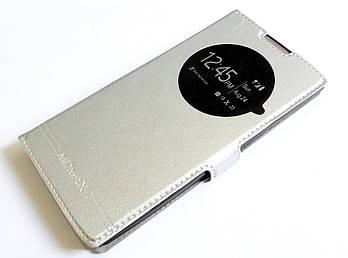 Чехол книжка с окошком momax для LG G4c h522y / LG Magna Y90 h502 серебряный