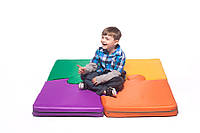 Кофрик-мат игровой для детей пазлы 4 шт. размер стандарт, фото 1