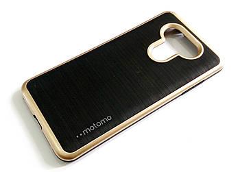 Чехол противоударный Motomo для LG G6 h870 черный с золотым