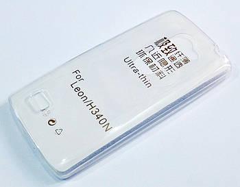 Чехол для LG Leon y50 h324 силиконовый ультратонкий прозрачный