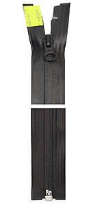 Блискавка YKK AquaGuard® | 70 см | прогумована | матова | 1 бігунок | чорна