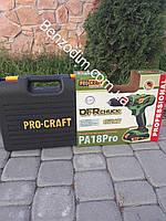 Шуруповерт аккумуляторный Procraft PA18PRO с DFR патроном