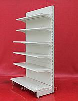 Пристенные (односторонние) стеллажи «Интрак» 210х65 см., белые, на 6 полок, Б/у, фото 1