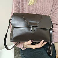 """Женская кожаная сумка """"Мелитта 2 Brown"""", фото 1"""