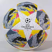 """Мяч футбольный №5 """"CHAMPIONS LEAGUE"""" Match Ball Replica Society+ (бело-серый), фото 1"""